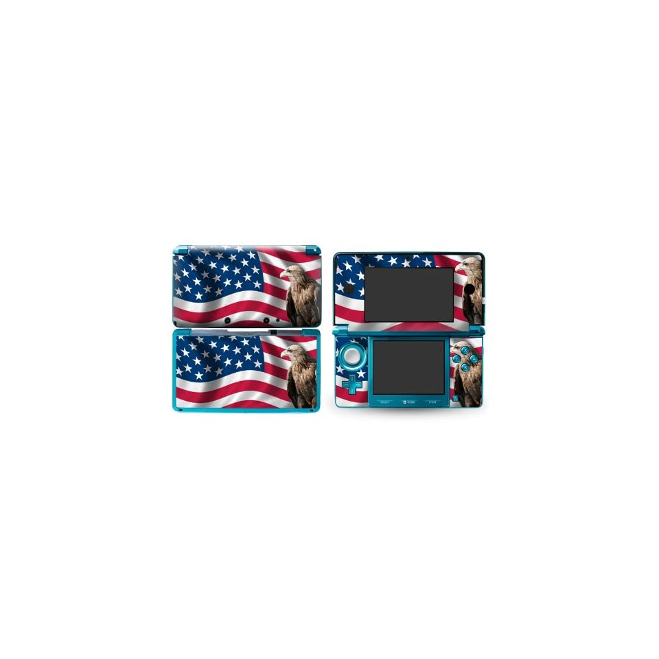 Bundle Monster Nintendo 3ds Vinyl Skin Cover Art Decal Sticker Protector Accessories   Patriotic America
