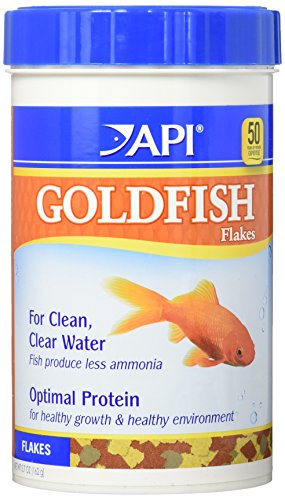 Goldfish Aquarium Flake Food - API GOLDFISH FLAKES Multi Color Fish Food For Freshwater Aquarium Goldfish, 5.7-Ounce