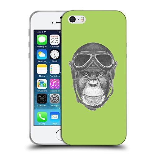 GoGoMobile Coque de Protection TPU Silicone Case pour // Q05290628 Pilote singe Inchworm // Apple iPhone 5 5S 5G SE