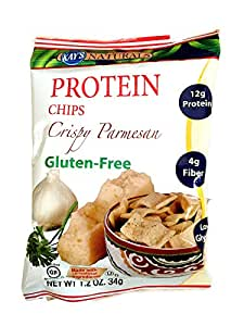 Kay's Naturals Protein Chips, Crispy Parmesan, 1.2-Ounce Bags (Pack of 12)