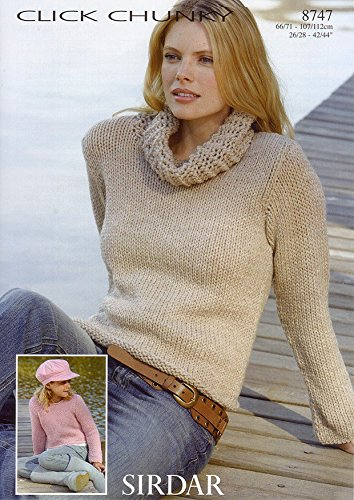 Sweaters in Sirdar Click Chunky (8747) Knitting Pattern ()