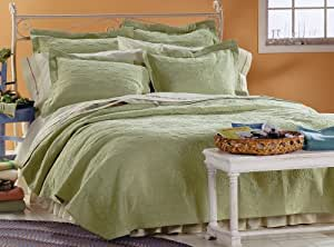Pendleton Over-All Matelasse Sage Twin Coverlet