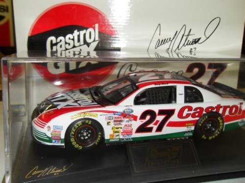 Casey Atwood Castrol GTX #27 NASCAR 1999 Monte Carlo Revell Collection 1:24 Die-Cast Stock Car W/ Stand and Case