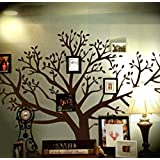 Huge Chestnut Brown Family Picture Tree Wall Decal Country Home Style Decor Wall Art