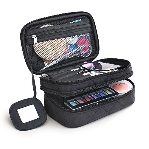 Monstina Cosmetics Bag Double Layer Makeup Bag With