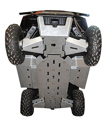 9-Piece Complete Aluminum Skid Plate Set, 2015 Polaris Ranger 570 Mid-Size by Ricochet