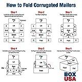 "BOX USA BMLR1293 Corrugated Mailers, 12"" x 9"" x 3"", White"