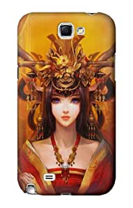 S0355 Chinese Girl Case Cover For Samsung Galaxy Note 2