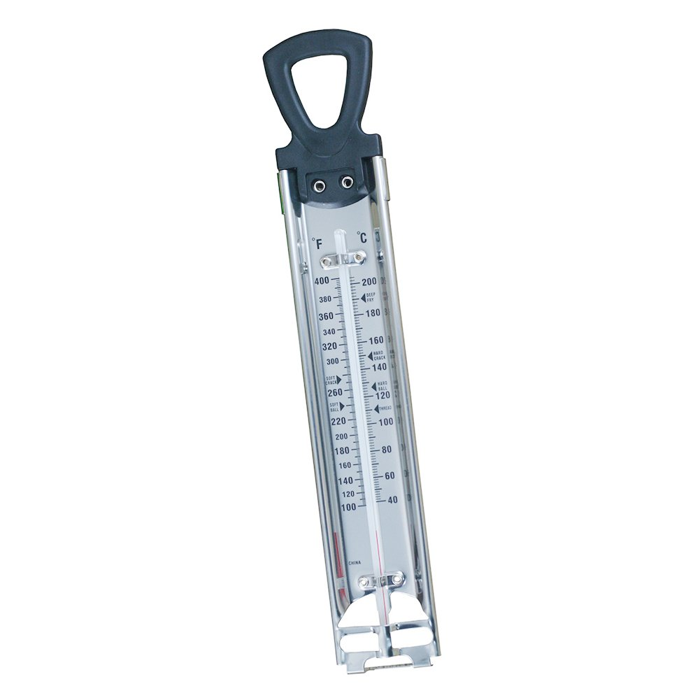 Stainless Steel with Pot Clip Attachment and Quick Reference Temperature Guide Hinmay Candy//Jelly//Deep Fry Thermometer