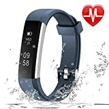 LETSCOM Fitness Tracker HR, Fitness Watch Heart Rate Monitor, Slim Pedometer Watch Sleep Monitor, Step Counter, Calorie Counter Kids Women Men