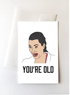 Amazon freud quotable notable die cut silhouette greeting 2 pack kim kardashian crying youre old birthday cards 425x5 bookmarktalkfo Images