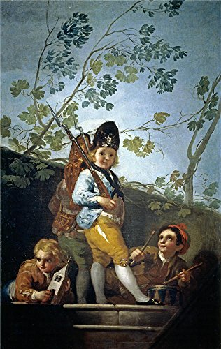Oil Painting 'Goya Y Lucientes Francisco De Boys Playing At Soldiers 1779', 10 x 16 inch / 25 x 40 cm , on High Definition HD canvas prints is for (Lime Wedge Adult Costumes)