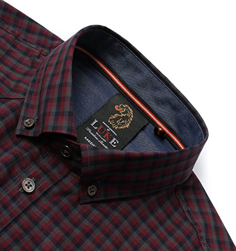 Luke 1977 Snips Lux Midnight Tartan Long Sleeve Shirt