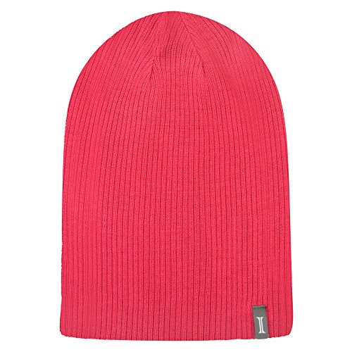 Reversible Ash Cap Jacob (Igloos Women's Lightweight 4-in-1 Slouch Beanie, Teaberry, One Size)