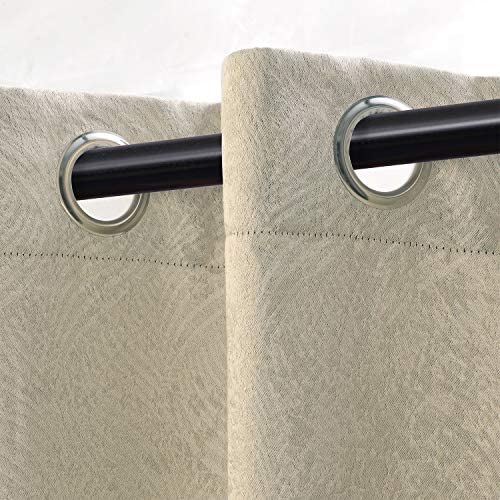 SUPERIOR Waverly Modern Geometric Set of 2 Blackout Energy Efficient Thermal Grommet Curtain Panel