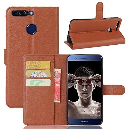 Manyip Funda Huawei Honor V9 (honor 8 pro),Caja del teléfono del cuero,Protector de Pantalla de Slim Case Estilo Billetera con Ranuras para Tarjetas, Soporte Plegable, Cierre Magnético(JFC6-14) I
