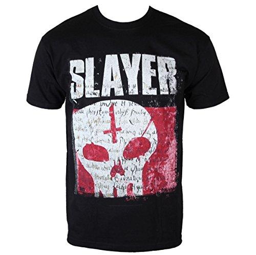 T-Shirt Männer Slayer - Undisputed Attitude Skull - BLK - ROCK OFF - SLAYTEE32 L