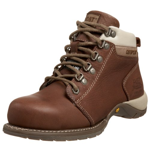Caterpillar Women's Carlie Steel Toe Boot,Chocolate,10 M (Toe Boots Chocolate)