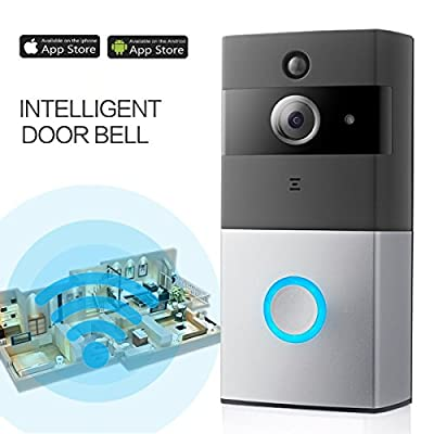 Video Doorbell, Bwen Wireless Battery Powered Smart Enabled 720P HD Security Camera, PIR Motion Detection, Night Vision, with Real-Time Two-Way Talk and Video