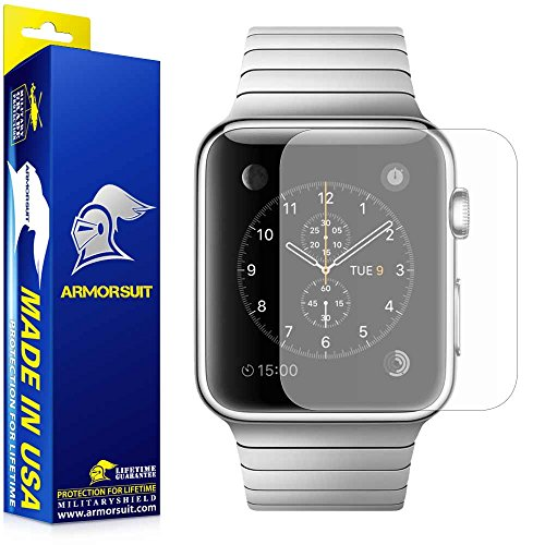 Price comparison product image ArmorSuit 101-131-w Apple Watch Screen Protector Matte (42mm Series 3 / 2 / 1 Compatible), Armorsuit MilitaryShield Full Coverage [2 Pack] Anti Glare Screen Protector for Apple watch 42 mm - Matte