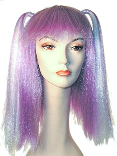 UHC Women's Lil Cim Synthetic Fiber Wig Rapper Halloween Costume Accessory -