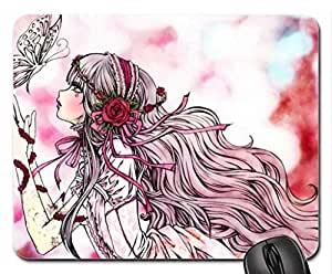 Anime Girl Mouse Pad, Mousepad (10.2 x 8.3 x 0.12 inches)