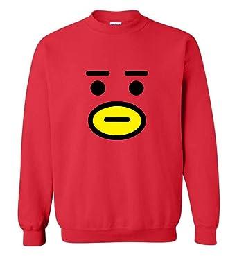 ddec19c274b6 Amazon.com: The Incredible BTS Tata Face BT21 Halloween Costume Hoodies  Sweatshirts Koya RJ Shooky Mang Chimmy Cooky: Clothing