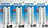 Philips Work Light & Security Halogen T3 500W RSC Base 9500 Lumens Set of 4 (8 Light Bulbs)