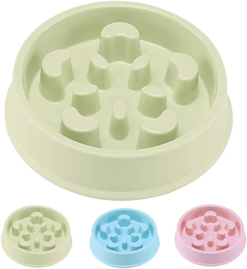 Sorxine Dog Slow Feeder Bowl,Pet Dog Food Bowls for Medium Small Dogs & Puppies to Slow Down Eating, Interactive Bloat Stop Dog Bowls,Anti-Gulping Pet Slower Food Feeding Dishes (Green2)