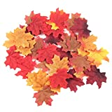 HNXZL 300Pcs Artifical Assorted Maple Leaves Mixed Fall Colored for Wedding Party Home Decor(6 Colors)