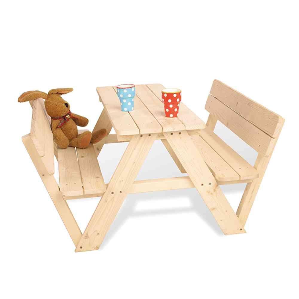 """Picknicktisch Kinder Pinolino Kindersitzgruppe Nicki mit Rueckenlehne"""" width="""