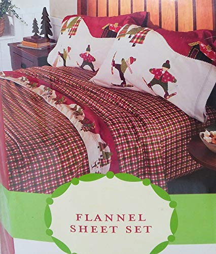 Target Brands, Inc. Winter Holiday Plaid Twin Flannel Sheet - Flannel Sheets Target