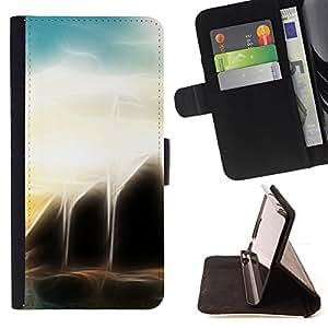 Jordan Colourful Shop - sunset sea black sci-fi For Apple Iphone 5C - Leather Case Absorci???¡¯???€????€??????????&