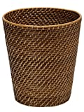 KOUBOO 1030011 Round Rattan Waste Basket, 10.25'' x 10.25'' x 11'', Honey Brown