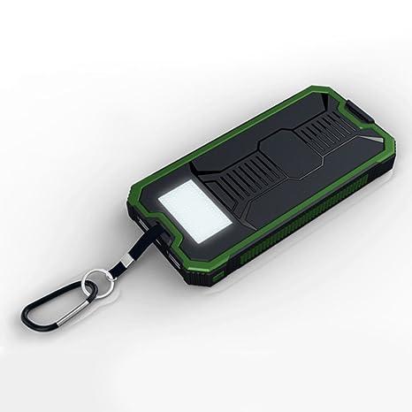 Cargador solar para teléfono móvil de 10000 mAh, doble banco ...