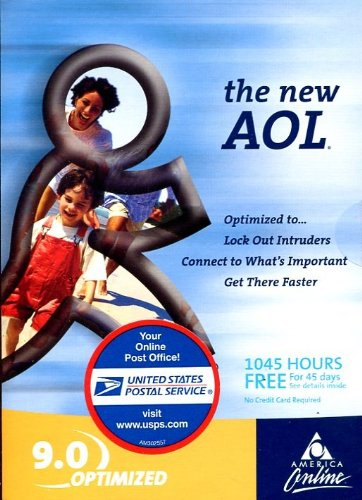 Aol All New 9 0 Optimized Cd  1045 Hours Free  Brand New Usps    Sealed Package