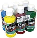 Sargent Art Primary Acrylic Paint Set, 4-Ounce, 6-Pack