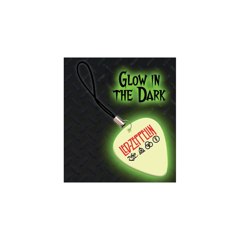 Led Zeppelin Premium Glow Guitar Pick Mobile Phone Charm