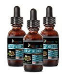 Anti Anxiety Supplements - Hemp Seed Oil Organic Extract 500 MG - Hemp Oil for Relaxation - 3 Bottles 3 FL OZ (90 ML)