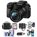 Panasonic Lumix DMC-G7 Mirrorless Micro 4/3s Digital Camera with Vario 14-140mm f/3.5-5.6 Lens, Black - Bundle w/Camera Case, 32GB SDHC Card, 58mm Filter Kit, Cleaning Kit, Card Reader, Software Pack
