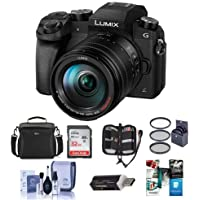 Panasonic Lumix DMC-G7 Mirrorless Micro 4/3s Digital Camera with Vario 14-140mm f/3.5-5.6 Lens, Black - Bundle w/Camera Case, 32GB SDHC Card, 58mm Filter Kit, Cleaning Kit, Card Reader, Software Pack