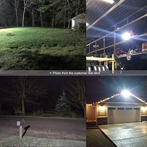 100W LED Flood Light Outdoor 2Pack, 8000 LM Super Bright Work Light GLORIOUS-LITE, Equiv 600W Halogen, IP66 Waterproof, 59inch Wire with Plug, 6500K White Light, for Garage, Garden, Lawn and Yard