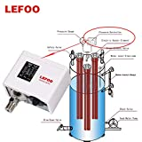 LEFOO LF5510 Adjustable HVAC Pressure Control/Steam Boiler Pressure Switch/Single Refrigeration/Air Water Pump Compressor Pressure Switch 14.5psi~145psi