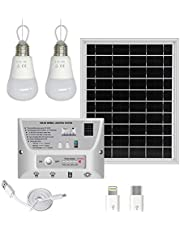 YINGHAO Upgraded Solar LED Lighting System & Phone Charger with Imported LED Lights