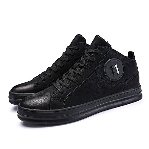 Men's Shoes Feifei Non-Slip Fashion Keep Warm Cotton Shoes 2 Colors (Color : 01, Size : EU43/UK9/CN44)