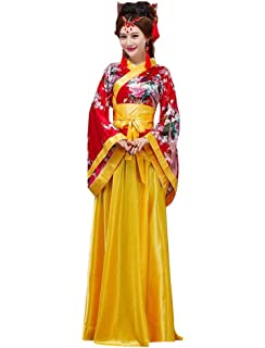 springcos Chinese Costumes Hanfu Peacock Women Halloween Fancy Party Dress 1d2f99dec