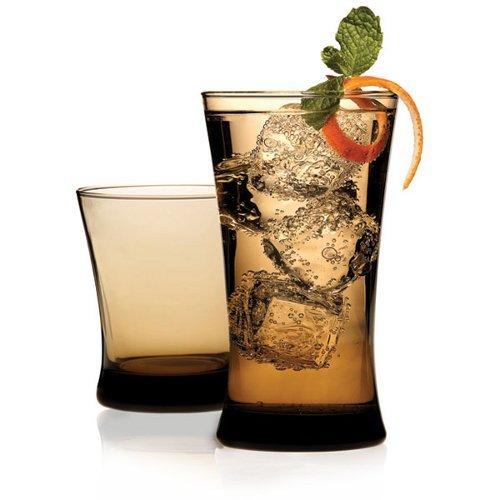 - Anchor Hocking Linden Mocha Glass 12 Piece Drinkware Set