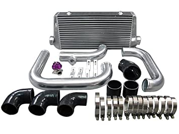 "Aluminio 31 ""x12"" x4 ""FM Intercooler Kit para 93 – 02"