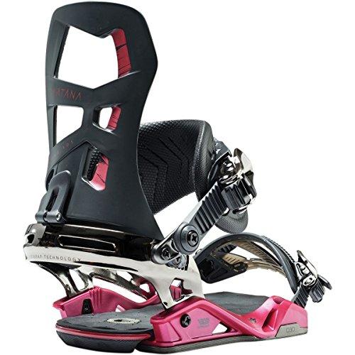 Rome Snowboards Women's Katana Snowboard Bindings, Black, Small/Medium (Rome Katana Snowboard Bindings)