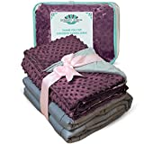 #5: Weighted Blanket Adult Size-For Heavy Stress Relief, Autism, Restless Leg Syndrome & natural calm for anxiety - Plum 48x72